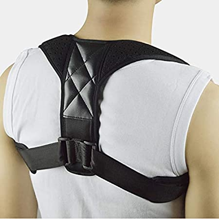 Corrector de postura para hombros, hombre y mujer, dispositivo profesional lavable ajustable e invisible, ideal para cifosis, alivia el dolor de espalda, pecho y cuello y hombros, ortopédico, deporte