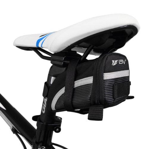 BV USA BV Bike Black Seat Strap on Saddle Bag