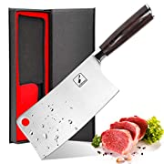 #LightningDeal Imarku Cleaver Knife 7 Inch German High Carbon Stainless Steel Chopper Knife for Home Kitchen and Restaurant with Comfotable Handle