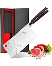 iMarku 7-Inch Chinese Vegetable Knives,Stainless-Steel Chopper-Cleaver-Butcher Knife for Home Kitchen or Restaurant