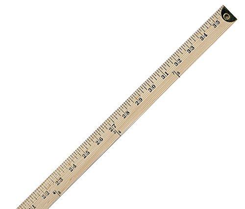 Yardstick Ruler (Westcott Wooden Yardstick Ruler with Metal Edges, (14351))