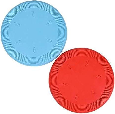 Basic Juguete Perro Flyer, Paquete de 2, (Rojo + Azul) 7,5 Pulgadas