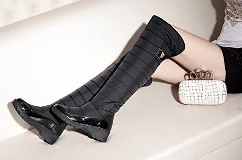 arrive snow shoes for keep boots boots high warm Black knee winter platform women new Uqw6d6
