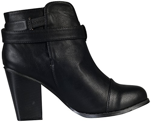 Women's Chase Strappy Ankle Black Chunky Boot Heel amp; Andrea 1 Chloe xxHAUwCq