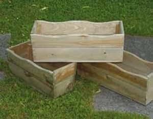 Jardinera Balconette cm. 60x 20H. 18de pino impregnato