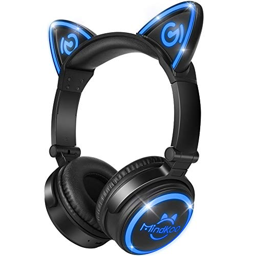 Best Led Headphones - MindKoo Bluetooth Headphones Over-Ear Wireless Headphones