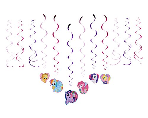 (American Greetings My Little Pony Party Supplies, Hanging Swirl Decorations, 12-Count)