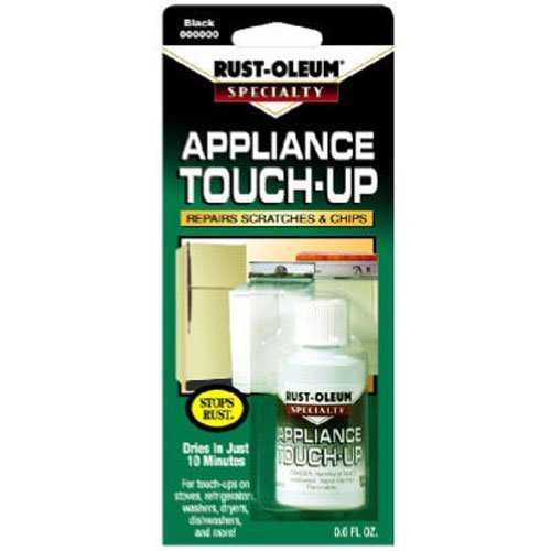 Rust-Oleum 213174 .6-Ounce Specialty Brush Bottle Appliance Touch Up, - Stove Metal Black