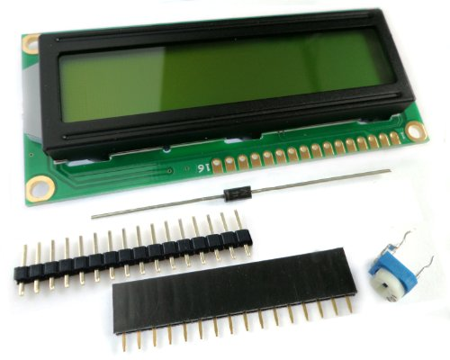 microtivity IM162 LCD Module 1602, Black on Green with Backlight by microtivity (Image #1)