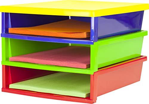 Storex - Clasificador de papel rápido, Multicolor, 13 x 11.25 x 8.4 Inches