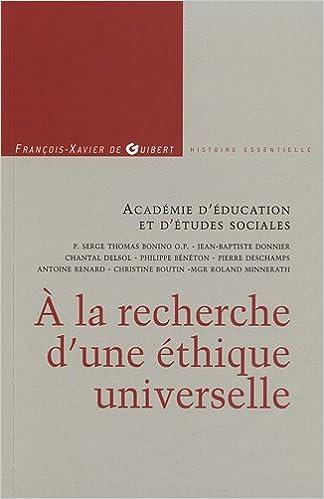 Livres gratuits en ligne A la recherche d'une éthique universelle epub, pdf