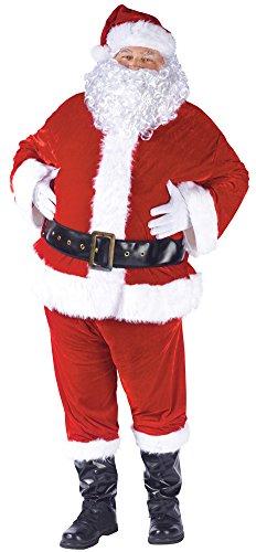 Santa Suit Complete Velour Costumes (Santa Suit Complete Velour Adult Costume Halloween Costume)