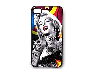 Marilyn Monroe with Tattoos Decorated iPhone 4 Case -P246