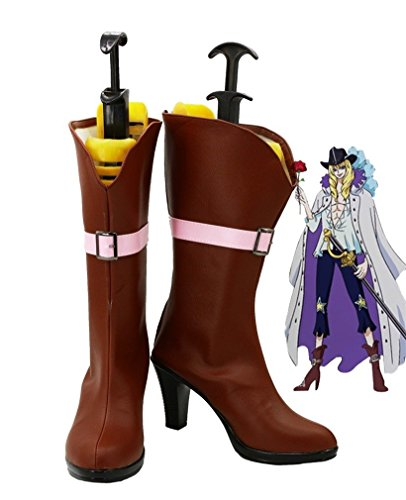 Bromeo One Piece Anime Cavendish Cosplay Chaussure Bottes Boots
