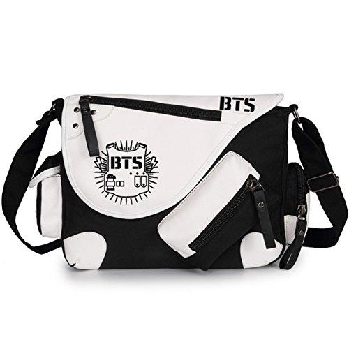 JUSTGOGO Casual Messenger Bag Crossbody Bag Shoulder Bag Travel Bag Handbag Tote Bag (3)