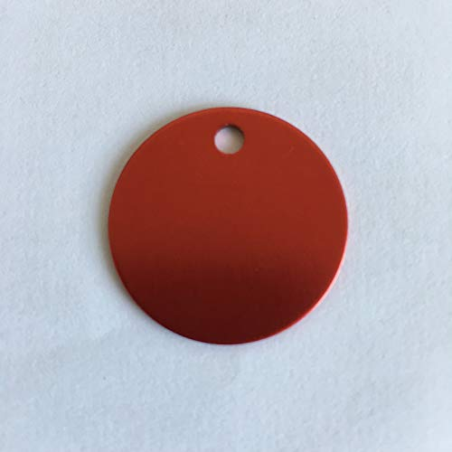 Colorful Round Anodized Aluminum Stamping Blanks Discs 25mm (Pack of 10) (Red)