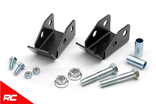 Rough Country Rear Shock Relocation Brackets Compatible w/ 1997-2006 Jeep Wrangler TJ LJ 1185 ()