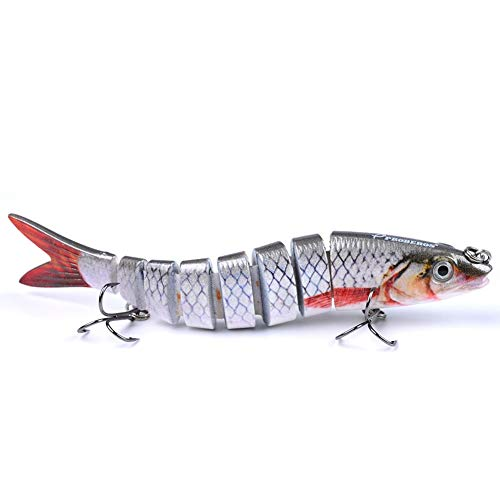 Yeawooh Fishing Lure, 13.28 cm Multi Jointed Hard Bait 19g Lifelike Articulated Lure 7 Segments Fishing Lure