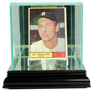 Single Baseball Glass Case (MLB Single Card Glass Display Case, Black)