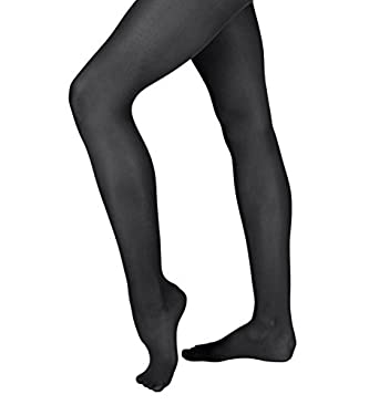 12a73d039fd21 Grandeur Hosiery Girls' Kids Childrens Shimmer High Gloss Dance Ballet Footed  Tights Pantyhose Stockings Black
