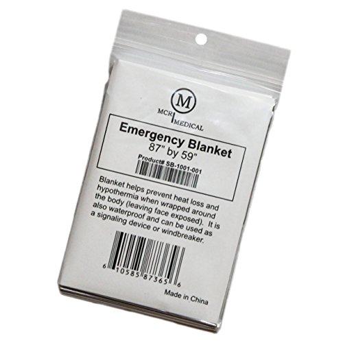 Food Blanket Wrap - MCR Medical Supply SB-1001-001 Silver Mylar Emergency Blanket, 59