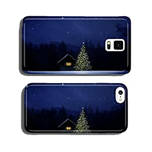Schih¨¹tte with Christmas tree at night cell phone cover case Samsung S6
