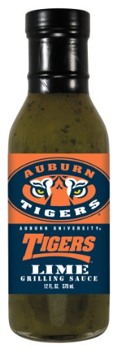 4 Pack AUBURN Tigers Lime Grilling Sauce 12 oz