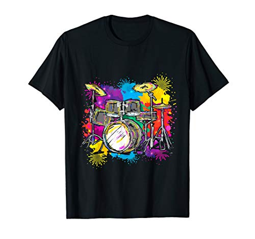 Colorful Percussion Drummer Gift Idea Drums T-Shirt