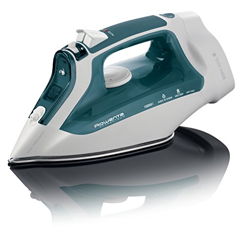 Rowenta DW2191 Access Steam 1500-Watt Cord Reel Steam Iron Stainless Steel Soleplate, 300-Hole, Green (Best Steam Iron With Retractable Cord)