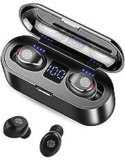 Draadloze in-ear koptelefoon, bluetooth 5.0 oordopjes met microfoon, waterdichte in-ear stereo oortelefoon, aanraakbediening oordopjes draadloos, voor thuisgebruik kantoor.
