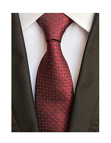 Men's Maroon Red Party Ties Elegant Banquet Formal Prom Ball Neckties for -