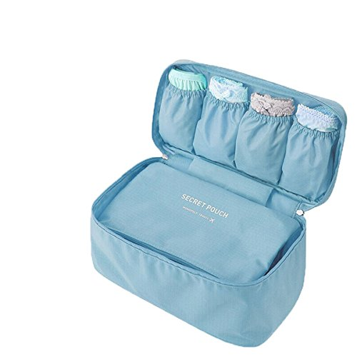 Womens' Travel Organizer Kit Portable Underwear/Makeup/Socks Storage Drawer Dividers Tidy Hangbag for Holding Cosmetics Light - Malaysia Usps Shipping To