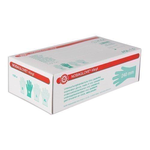 100 Pcs Nobaglove Disposable Gloves Vinyl Powder Free - medium, not present by Noba Verbandmittel NOBA Verbandmittel Danz GmbH u. Co KG