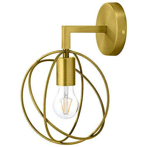 - Modway EEI-2915 Perimeter Brass Wall Sconce Light Fixture, Brown