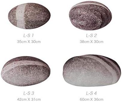38x30cm Wangxin/® Grand Coussin d/écoratif en Coton Blanc Motif Galets