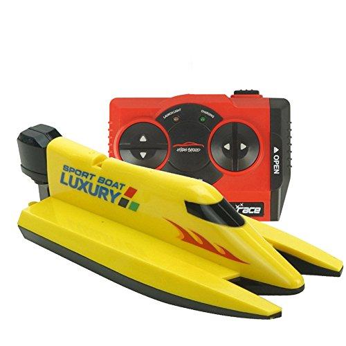 CYNDIE 2.4G juguete del barco de la velocidad del control remoto impermeable Mini RC que compite con el modelo del barco...