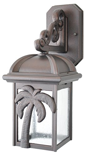 Melissa Lighting Outdoor Wall Mount PT29304 Tropical/British Colonial Palm Tree Series Collection in Bronze/Darkfinish (Outdoor Lighting Tropical)