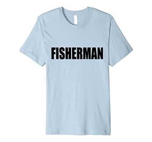 Mens Fisherman T Shirt Halloween Costume Funny Retro Distressed Small Baby (Infant Fisherman Halloween Costume)