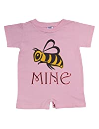 "Unisex Baby ""Bee Mine"" Valentine's Day Sweet Funny One Piece Romper"
