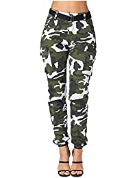 Women's High Rise Slim Fit Color Jogger Pants Matching...