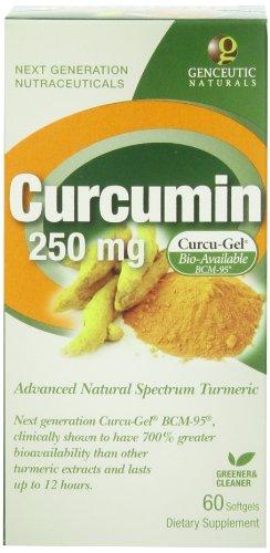 Un supplément de plantes Genceutic Naturals curcumine 250mg, 60-Count