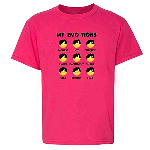 Emo-JIS Emo Emojis Funny Faces Meme Pink XS Youth Kids T-Shirt