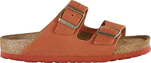 Birkenstock Arizona Nubuck Leather Soft-Footbed Narrow Steer Curry Size EU 38 - US L7 M5