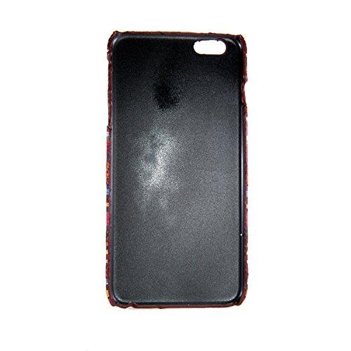 König-Shop Handyhülle aus Stoff-Case für Apple iPhone 6 / 6s Plus Cover Etuis Bumper Orange
