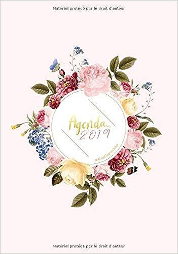 Agenda 2019 Din A5 Motif Floral Rose Fuchsia: Agenda 2019 ...