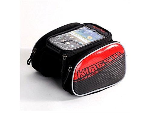 OVIIVO Bike Creative Waterproof Cycling Tube Pack Touchscreen Bike Frame Bags Bicycle Handlebars Panniers Phone Bag Pefect for Below 6 inch Smartphone by OVIIVO