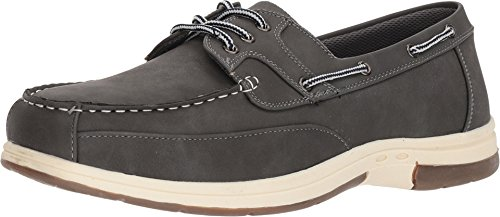 Deer Stags Men's Mitch Boat Shoe Dark Grey Simulated Oiled Leather 12 EEE US ()