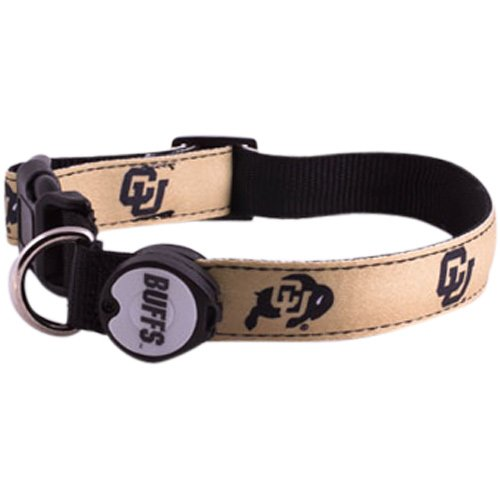 Dog-E-Glow University of Colorado Buffaloes Lighted LED Dog Collar, Large, 15-Inch by 21-Inch
