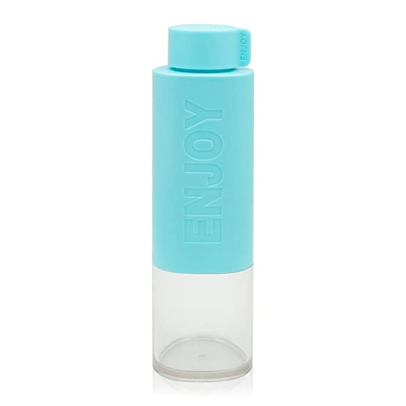 Botella de agua Deporte Reutilizable sin BPA Plastico Gimnasio 500ml Botella agua Prueba de Fugas Water Bottles, Azul: Amazon.es: Deportes y aire libre