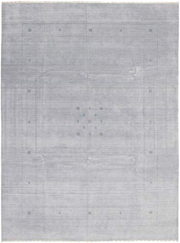 - eCarpet Gallery Large Area Rug for Living Room, Bedroom | Hand-Knotted Wool Rug | Kashkuli Gabbeh Gabbeh Grey Rug 9'0